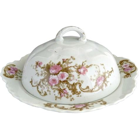 antique porcelain l with roses antique porcelain butter dish pink roses austria from
