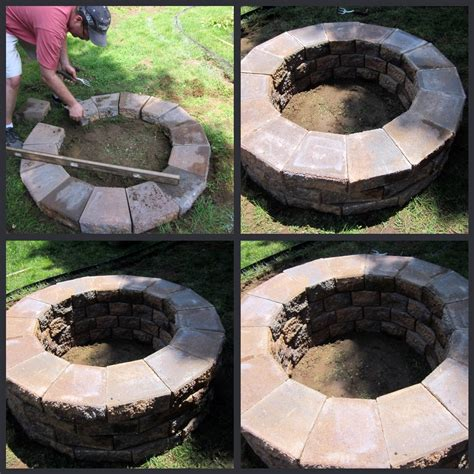 Homeroad Building A Fire Pit Diy Backyard Firepit