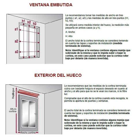 medidas de persianas como tomar medidas persianas curtains