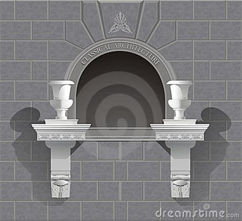 renaissance roman arch wall niche medium wall sculpture classical niche
