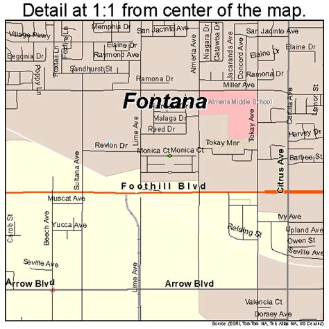map of fontana ca fontana california map 0624680