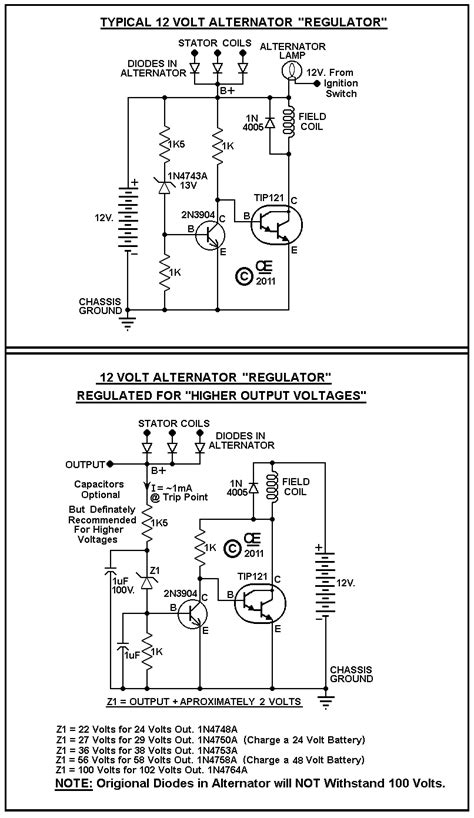 how does a diode trio work voltage regulator problem 12v