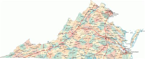 va county map maps virginia county map