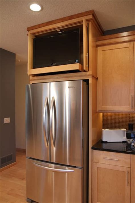 tv above refrigerator kitchen ideas pinterest tv above the fridge when i get to the kitchen project