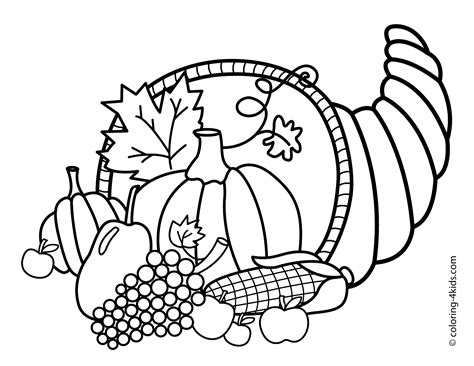 happy thanksgiving coloring pages to download and print