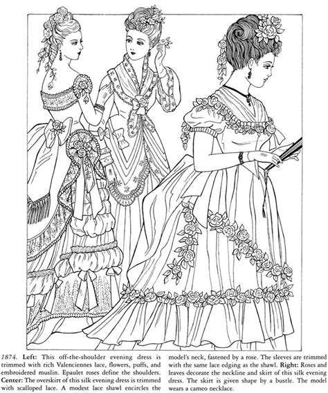 coloring book for fashion godey s fashions coloring book dover publications