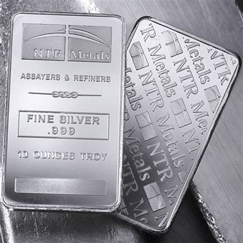 10 Oz Silver Bar Prices by Ntr Metals 10 Oz Silver Minted Bars