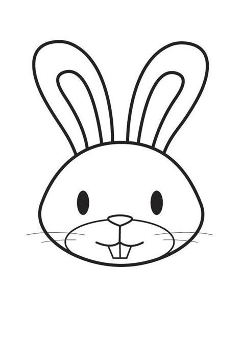 rabbit head coloring page coloring page rabbit head img 17563