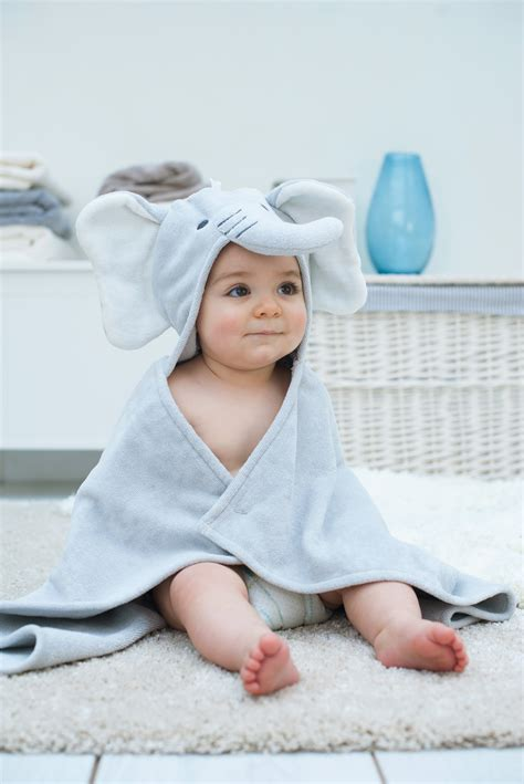 elephant soft hooded baby towel bathing bunnies