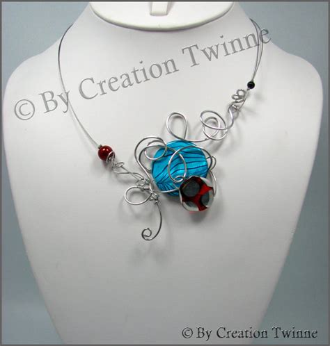 Funky Handmade Jewelry - cool funky jewelry blue and nekclace weddings necklace