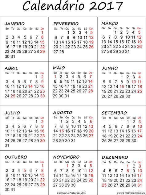 Calendario Completo 2017 Calend 225 2017 Feriados Para Baixar E Imprimir Toda