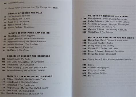 Cornell Mba Table Of Contents Essay Sle by Evocative Objects By Sherry Turkle A Book That Wants To