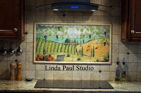 hand made the vineyard kitchen backsplash tile mural by custom kitchen backsplash murals wall murals