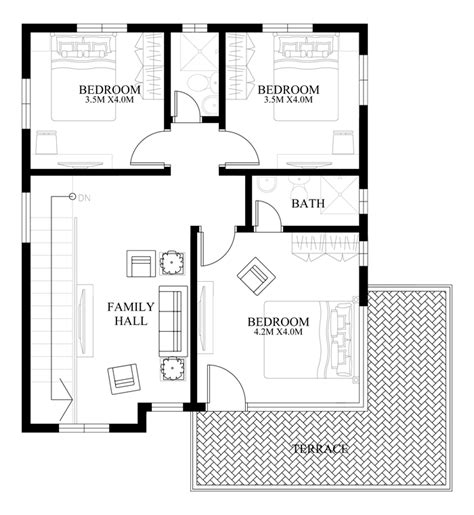 two story house plans series php 2014012 pinoy house modern house design series mhd 2014012 pinoy eplans