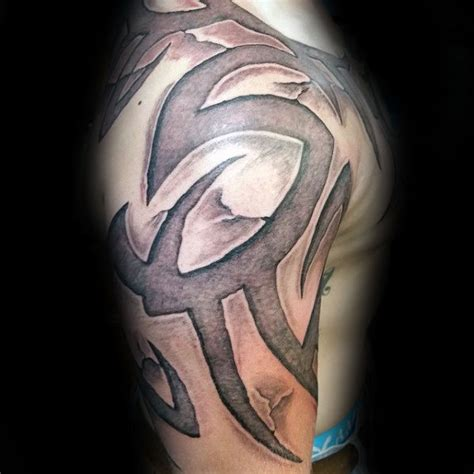 stone tribal tattoo 60 3d tribal tattoos for masculine design ideas