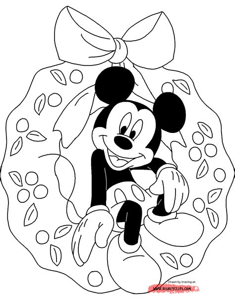 coloring pages christmas mickey mouse disney christmas coloring pages 2 disneyclips com