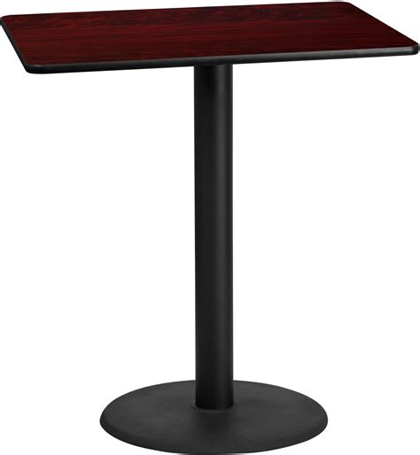 bar table tops and bases 42 quot rectangular mahogany laminate table top with 24 quot round