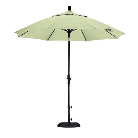 Canvas Patio Umbrella California Umbrella 9 Ft Fiberglass Collar Tilt Patio Umbrella In Canvas Pacifica Gscuf908705