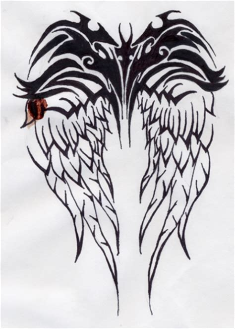 wing tribal tattoo tribal wings www imgkid the image kid has it