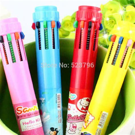 10 color pen 10 color retractable pen promotion shop for promotional 10