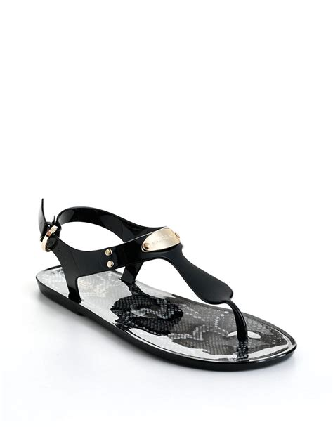 mk jelly sandals michael michael kors mk plate tstrap jelly sandals in