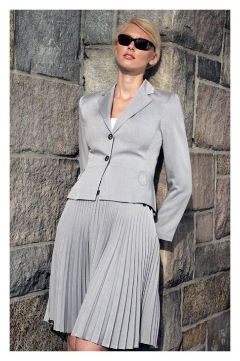 pleated skirt suit womens business suits