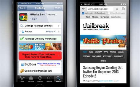 bars cydia tweak bmarks bar chrome cydia tweak bookmarks bar on chrome