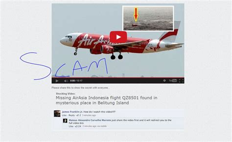 airasia zone 1 beware of the fake airasia qz8501 videos which are being