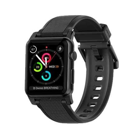 Nomad Sport Apple 42mm Band Silicone Black Grey nomad silicone correa apple 42mm negro
