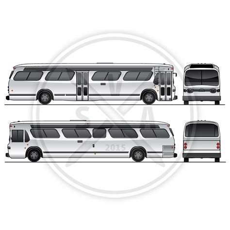 old city bus graphics template stock vector art