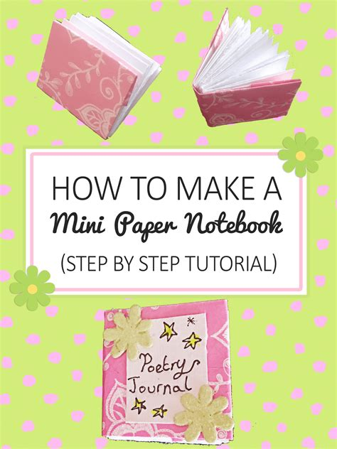How To Make Notebook Paper - how to make a mini paper notebook tutorial imagine forest