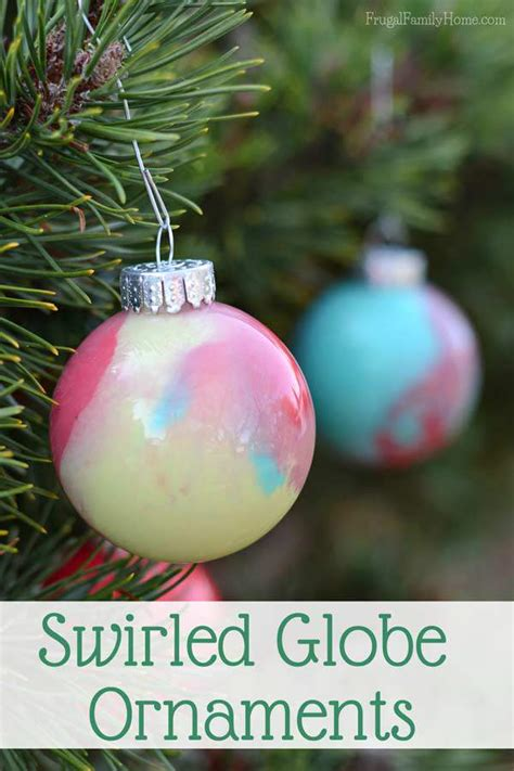 how to make paint swirled ornaments how to make your own swirled paint ornaments