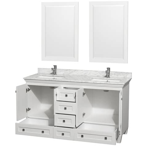 60 Inch White Bathroom Vanity Acclaim White Marble 60 Inch Bathroom Vanity Set
