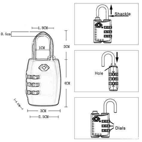 Gembok Tas Koper Luggage Suitcase Code Padlock 3 Digit Combination travel luggage suitcase code padlock 3 digit combination tsa 335 gembok tas koper black