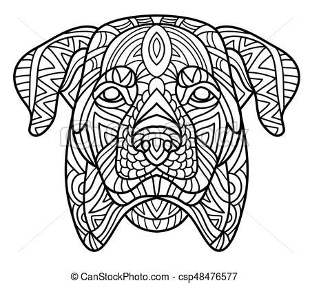 monochrome drawing bull tribal patterns on stock vector monochrome ink drawing coloring book for adults the