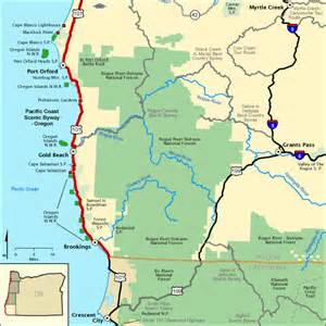oregon scenic byways map pacific coast scenic byway oregon lower southern