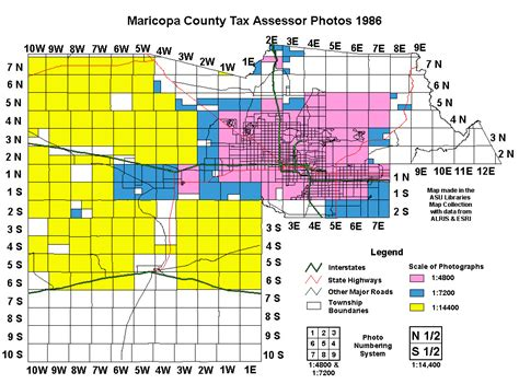 Maricopa County Records Maricopa County Tax Assessor Photos 1986 Index Map Asu Libraries