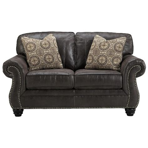benchcraft leather sofa benchcraft breville faux leather loveseat with rolled arms