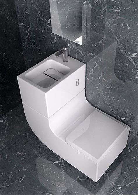 Guest Bathrooms Ideas by Sleek Sink Toilet Combo Is An All In One Greywater