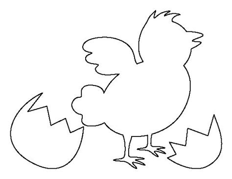 easter chick pattern use the printable outline for crafts