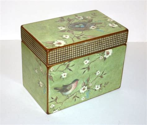 Cigar Nest Green 16 best recipe boxes and cards images on