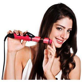 Catok 2 In1 Nhc 2009 A Pink buy hair straightener 2 in 1 straightener and curler nhc