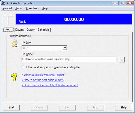 Samsung Auto Call Recorder Software Free Download by Screenshot Review Downloads Of Shareware Aca Audio Recorder