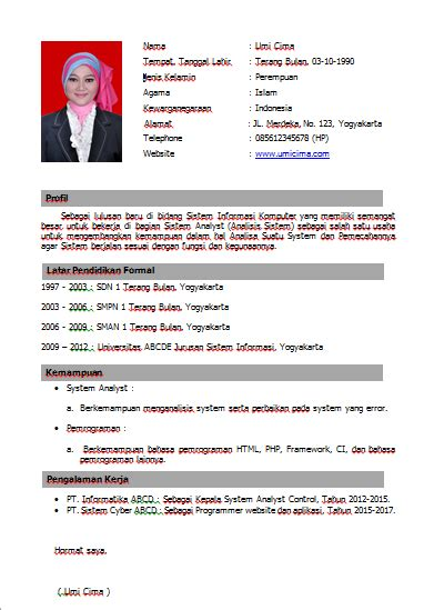 cara membuat cv download curriculum vitae free download curriculum vitae
