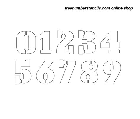 boat registration numbers stencil 1 inch army army number stencils 0 to 9