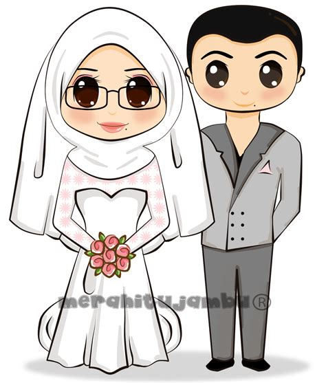 Wedding Kartun by Pin Wallpaper Muslimah Berpurdah Kartun Erpurdah On