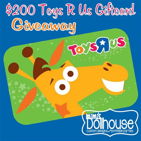 Us Gift Cards - giveaway 200 toys r us gift card giveaway mimi s dollhouse