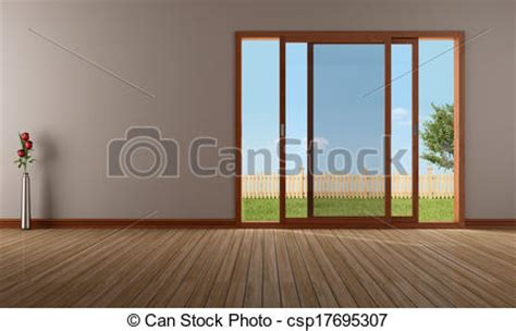 what is empty room in line stock illustration of empty living room with open sliding empty modern living csp17695307