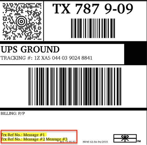 Where Do The Label Messages Appear On My Ups Labels Shipstation Ups Label Template