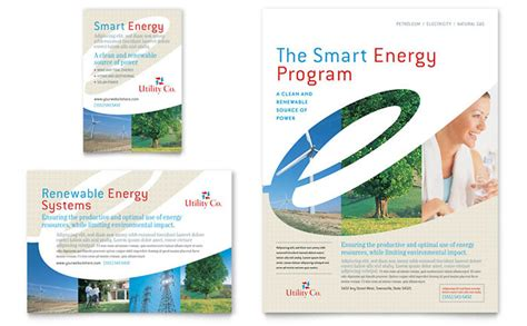 utility energy company flyer ad template design